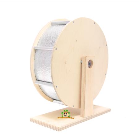 Knaagdierwinkel® Wooden Aluminum Exercise Wheel