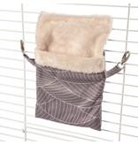 Plush Hanging Bag Beige Gray