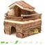 Holzhaus an der Wand 22 cm