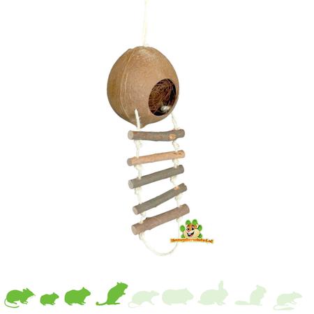 Trixie Kokosnoot Huis met Ladder 13 cm
