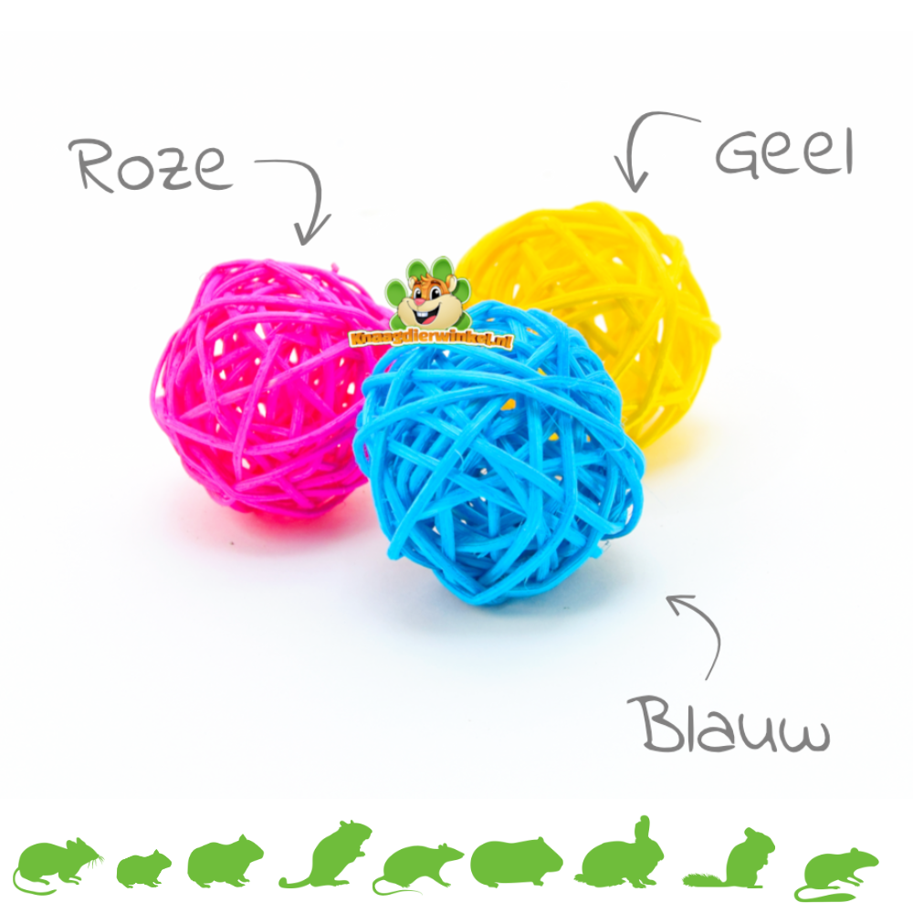 Colored Willow Balls 3.5 cm