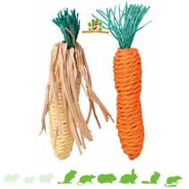 Corn & Carrot Straw Toys 15 cm