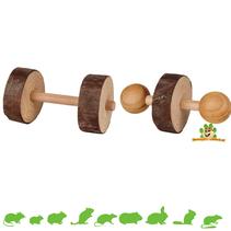 Set Hanteln aus Holz 4,5 cm