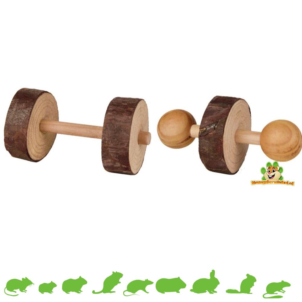 Trixie Set Hanteln aus Holz 4,5 cm