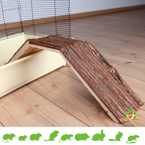 Wooden Bridge with Bark 63 cm