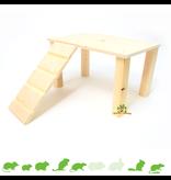 Knaagdierwinkel® Holzplateau mit Treppe Leer 28 cm