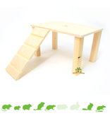 Knaagdierwinkel® Wooden Plateau with stairs Blank 28 cm