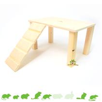 Holzplateau mit Treppe Leer 28 cm