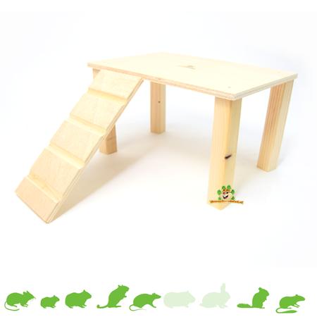 Elmato Holzplateau mit Treppe Leer 28 cm