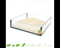 Glassandschale Quadrat 20 cm
