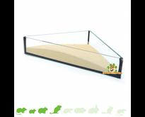 Glass Sand Dish Triangle 20 cm
