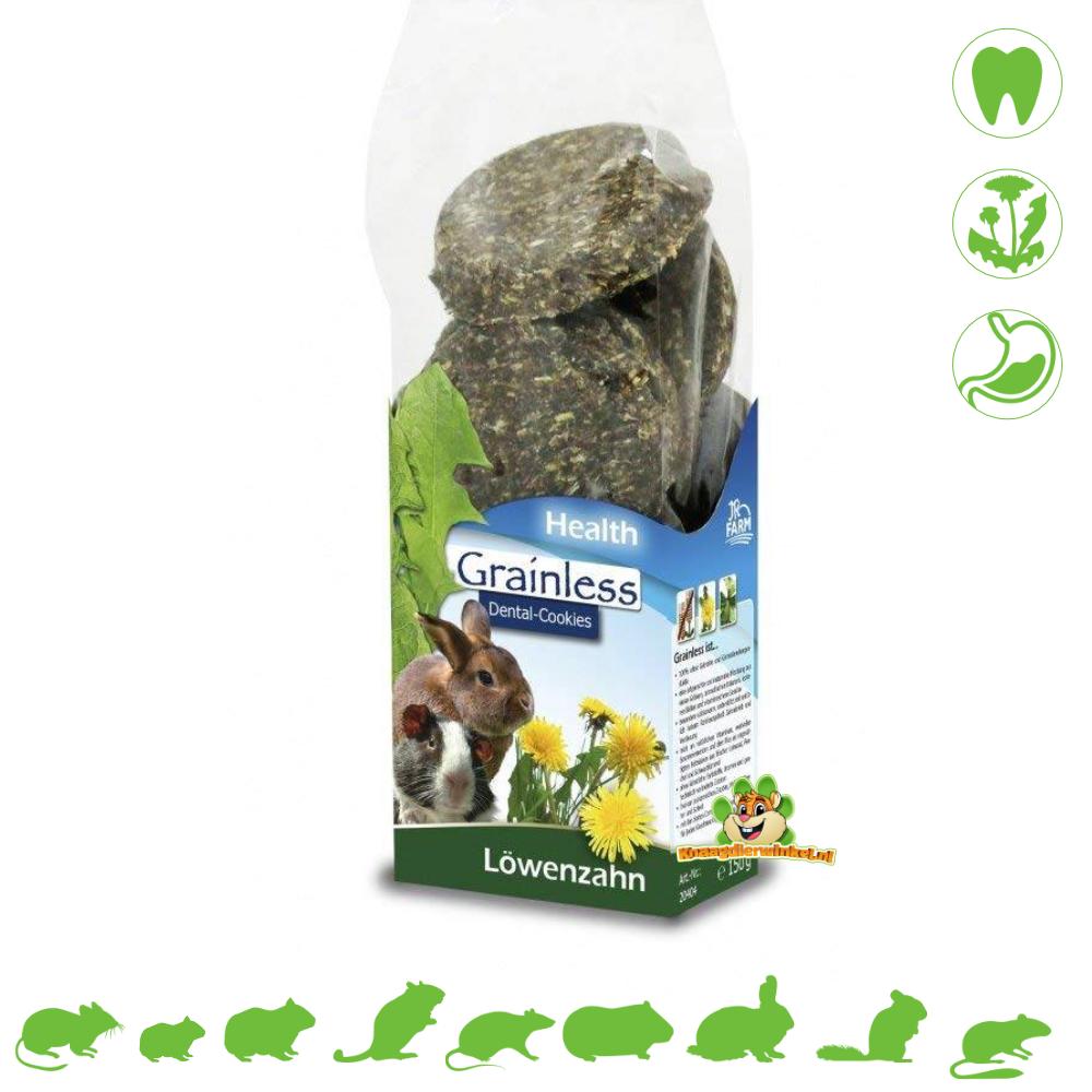 JR Farm Getreidelose GESUNDHEIT Zahnkekse Löwenzahn 150 Gramm