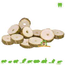 Wooden Nibble Discs Birch with hole