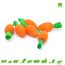 Happy Pet Wooden Nibble Carrots 6 pcs