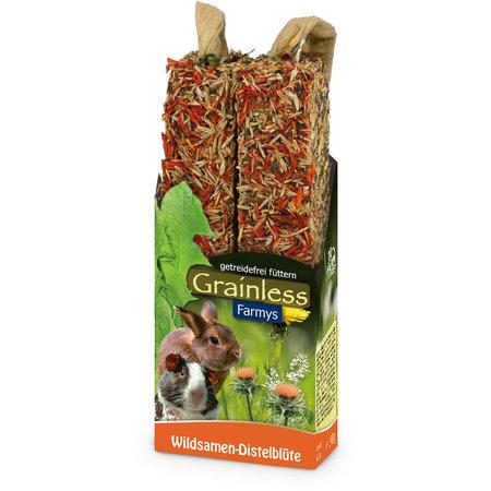 JR Farm Grainless Farmys Wild Thistle Flower Sticks