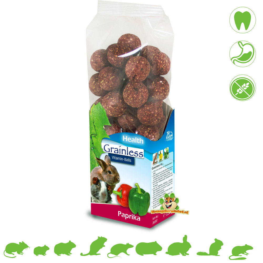 JR Farm Grainless HEALTH VitGrainless HEALTH Vitamine Ballen Paprika 150 gram