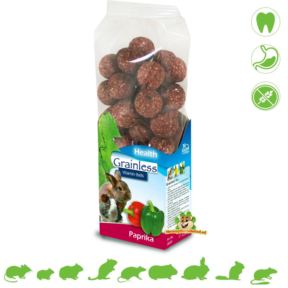 JR Farm Kornlose GESUNDHEIT VitGrainless GESUNDHEIT Vitamin Balls Paprika 150 Gramm