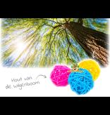 Farbige Weidenkugeln 3,5 cm