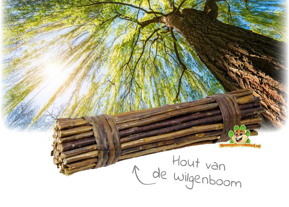 wilgenhout voor knaagdieren als knaagmateriaal voor de tanden