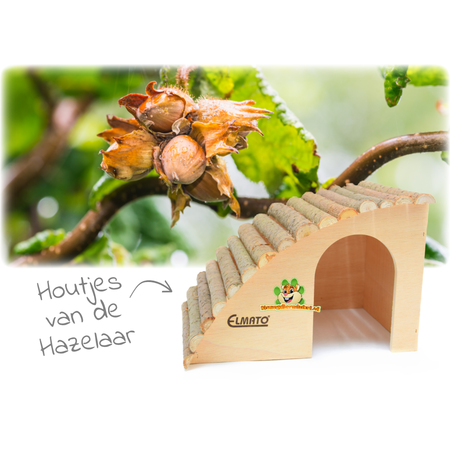 Elmato Schräge Nagetiervilla mit Haselnussdach 29,5 cm