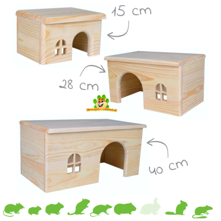 Trixie Wooden Block House Blank