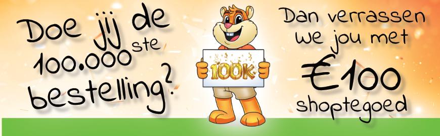 100.000ste bestelling!