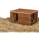 Trixie Huis Hilke met ingebouwde Hooiruif 40 cm