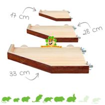 Holzplateau mit Kante