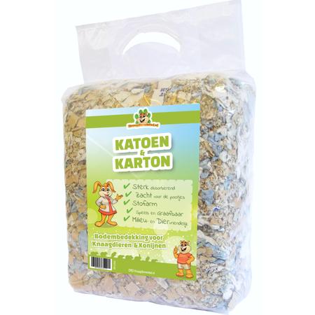 Knaagdierwinkel® Cotton & Cardboard 30 Liter Ground cover