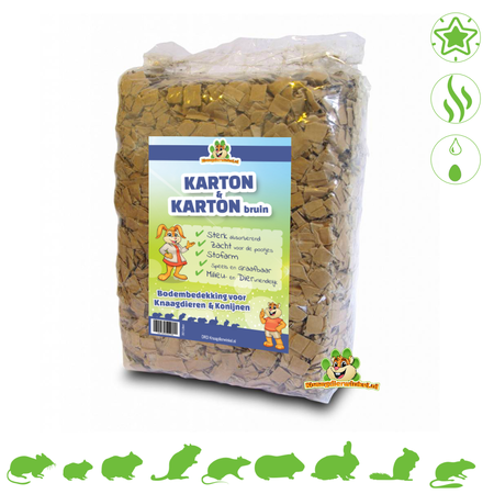 Knaagdierwinkel® Cardboard & Cardboard Brown 30 Liter Ground cover