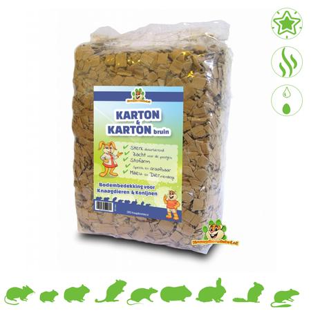 Knaagdierwinkel® Karton & Karton Braun 30 Liter Bodendecker