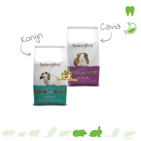 Supreme Kostenlose Probepackung Selektives Kaninchenfutter oder Meerschweinchenfutter 70 Gramm