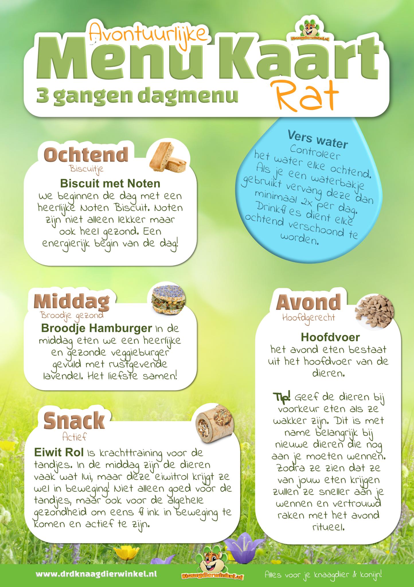 menukaart voor de rat