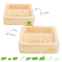 Wooden food bowl
