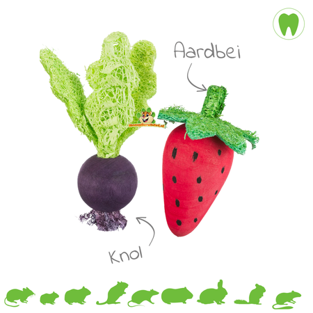 Trixie Gnawing Fruit & Vegetable Toys
