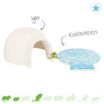 Igloo with cooling stone 15 cm