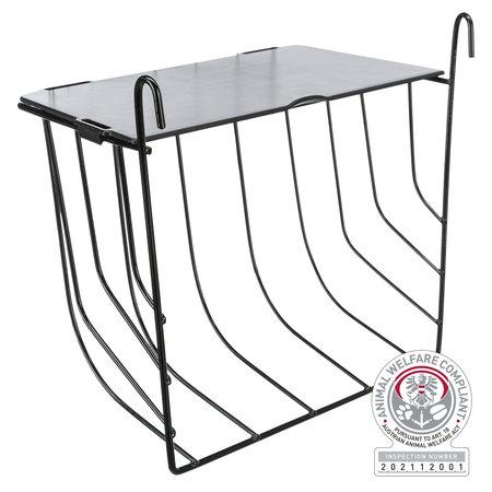 Trixie Metalen Hooiruif om op te hangen 20 cm met dakje