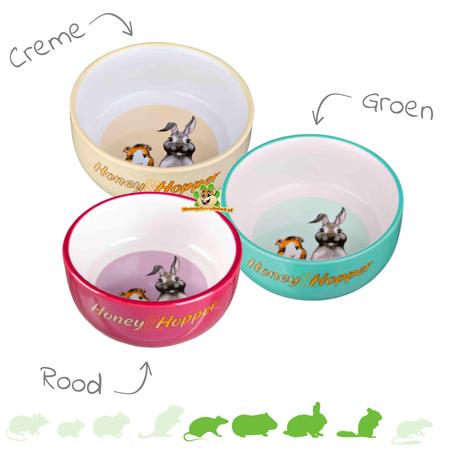 Trixie Honey & Hopper Keramik-Futter-/Wasserschale