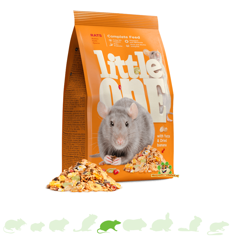 Mealberry Little One Voer voor Ratten 900 gram