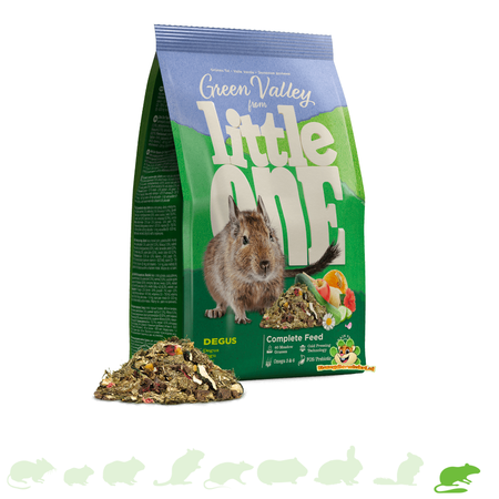 Mealberry Little One Green Valley Food for Degus 750 grams