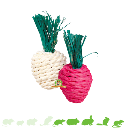 Trixie Strohspielzeug Radieschen 8 cm