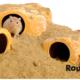 Rodipet Ceramic Rock House Sandstone