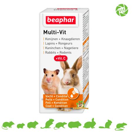 Beaphar Multi Vitamin Rodent & Rabbits 20 ml