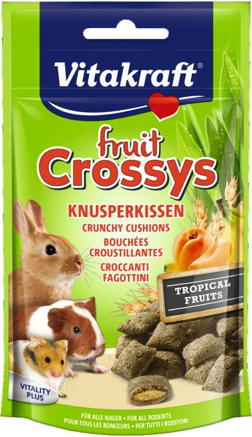Vitakraft Fruit Crossys Tropical Banaan Abrikoos knaagdier
