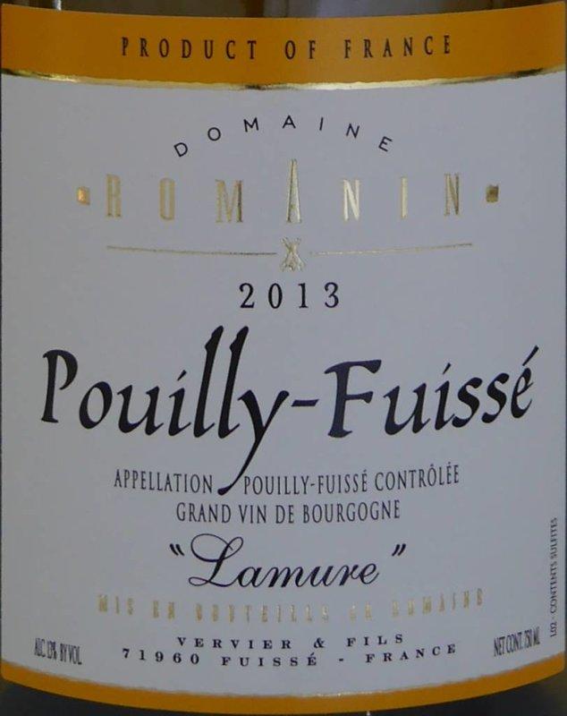 """Domaine Romanin - Pouilly-Fuissé """"Lamure"""""""