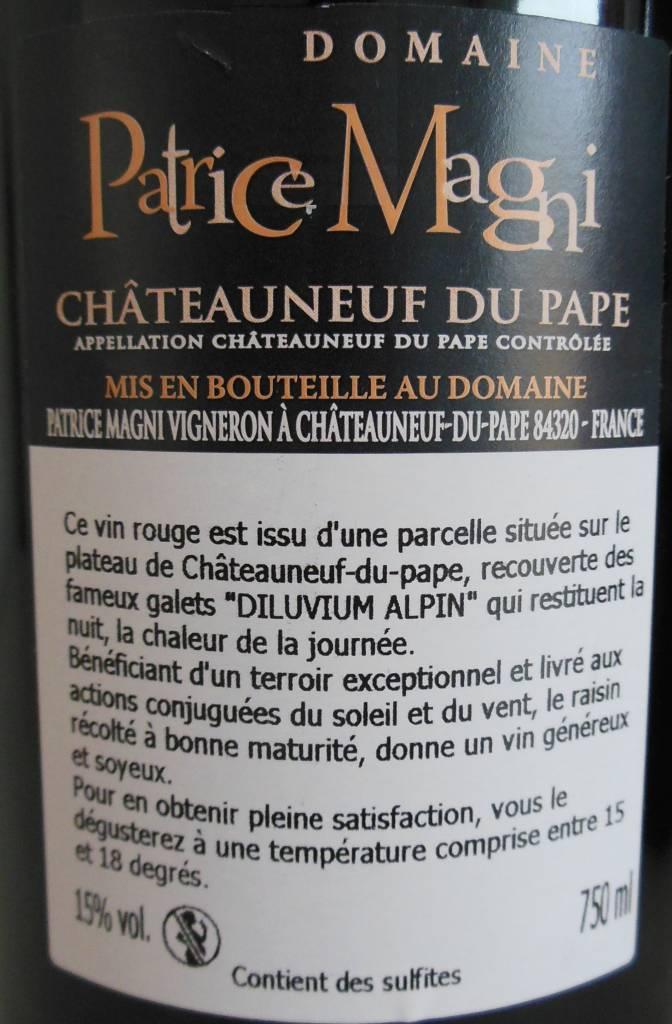 Domaine Patrice Magni - Châteauneuf-du-Pape Rouge - 2015-3