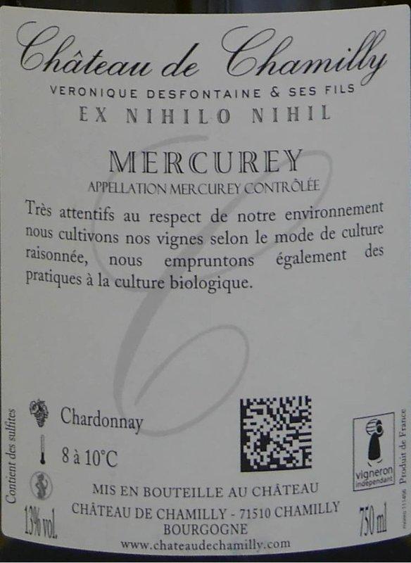 """Château de Chamilly - Mercurey """"Les Marcoeurs"""""""