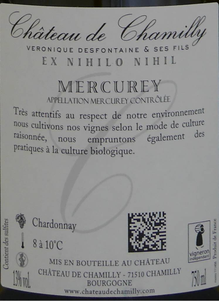 """Château de Chamilly - Mercurey """"Les Marcoeurs"""" - 2014-4"""