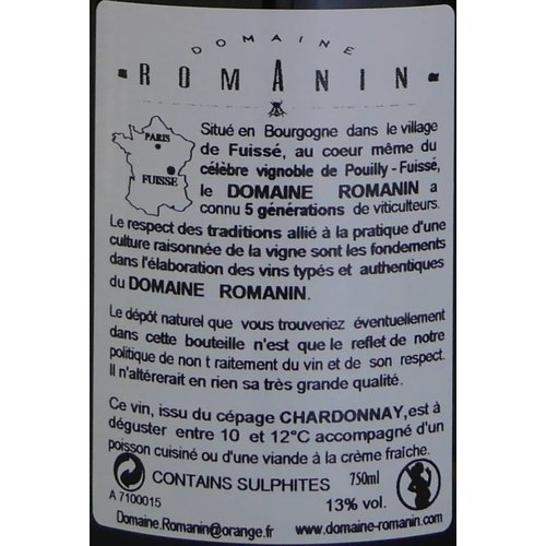 """DomaineRomanin - Pouilly-Fuissé """"Terroir de Fuissé"""" - 2015"""