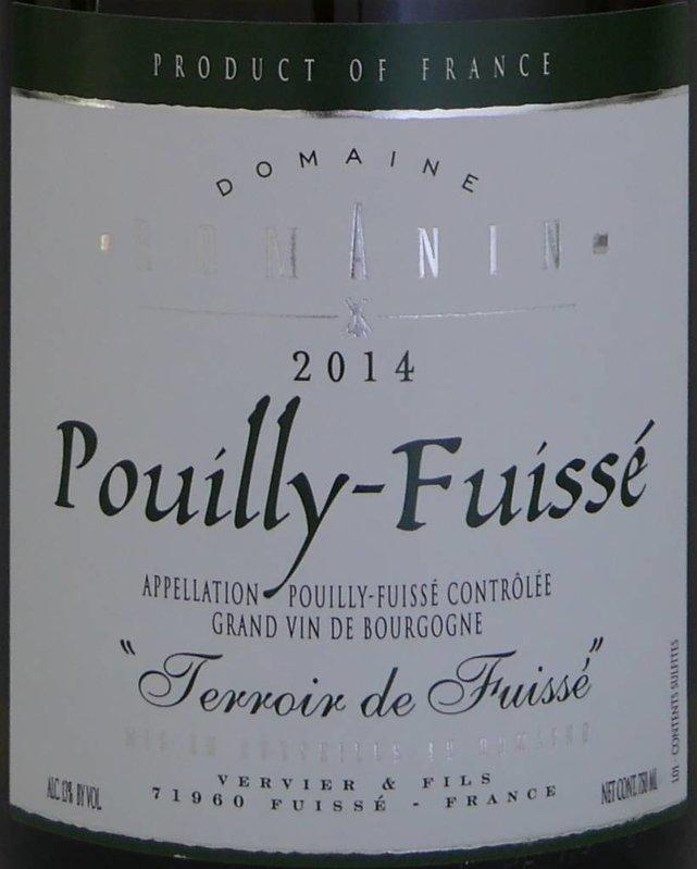"""DomaineRomanin - Pouilly-Fuissé """"Terroir de Fuissé"""""""